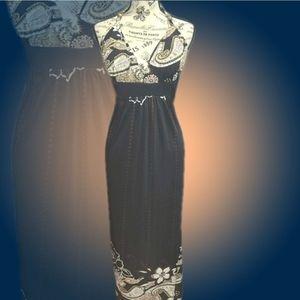 Charlotte Russe Black Halter Maxi Dress